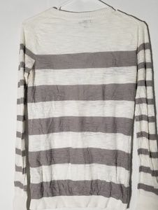 Express Sweaters - Express Tan and cream striped v neck sweater